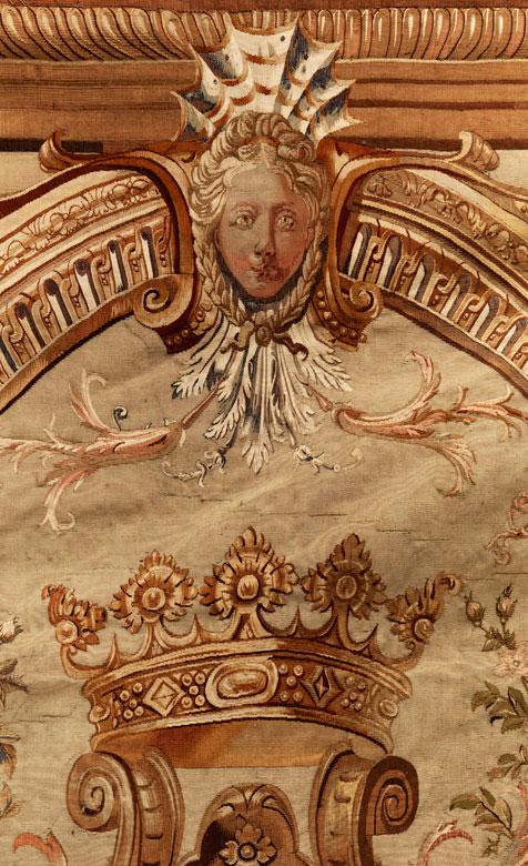 Detailabbildung: Seltener, außergewöhnlich schöner Wappen-Aubusson