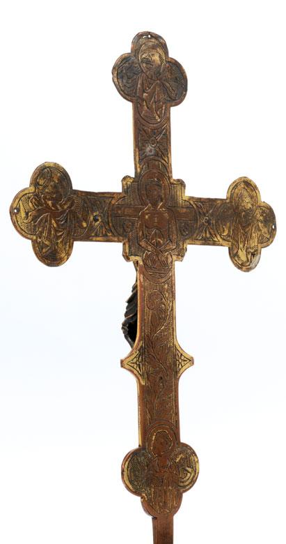 Detailabbildung: Museales Stellkreuz des 14. Jahrhunderts