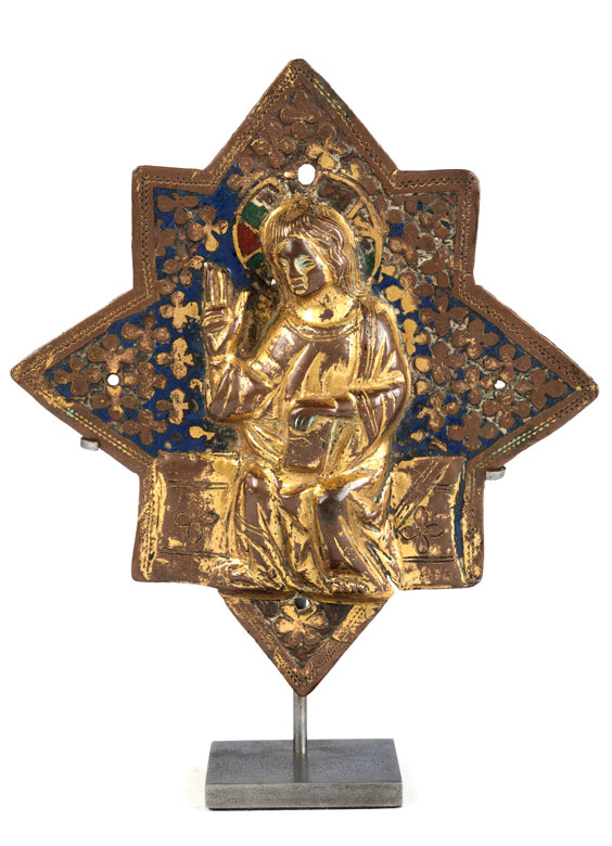 Detailabbildung: Museale frühgotische Reliefplakette