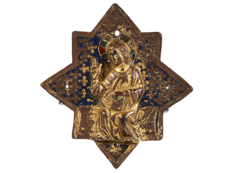 Museale frühgotische Reliefplakette