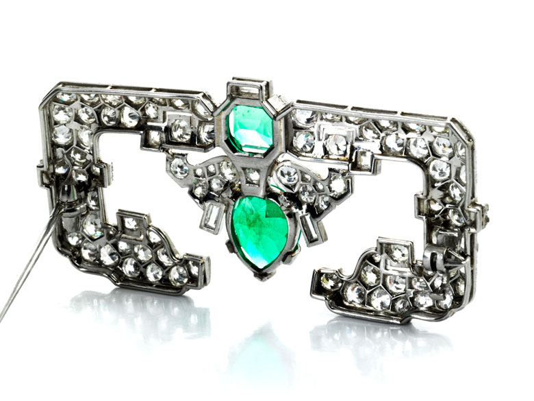 Detailabbildung: Diamant-Smaragdbrosche von Cartier