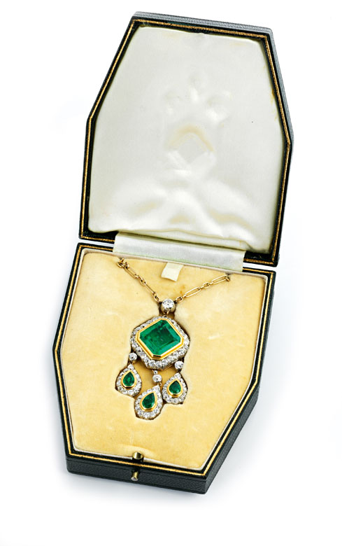 Detailabbildung: Variables Smaragd-Diamantcollier