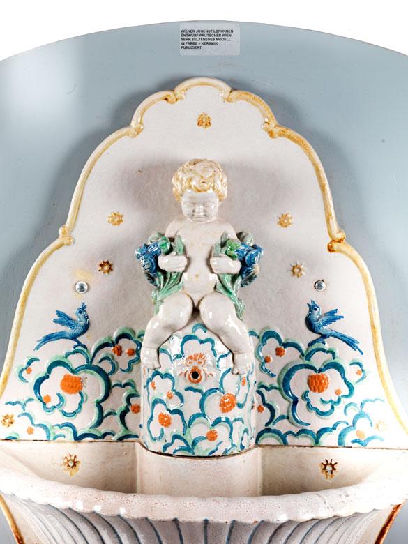 Detailabbildung: Wiener Jugendstil-Wandbrunnen