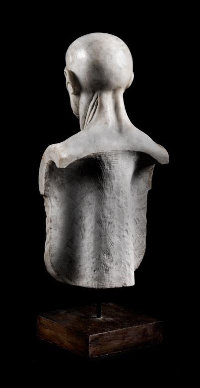 Detailabbildung: Marmorskulptur in Form eines anatomischen Modells