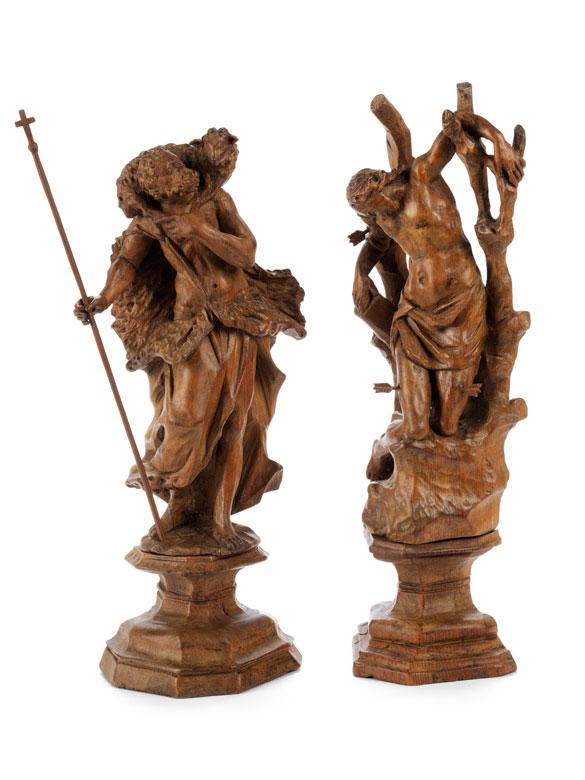 Detailabbildung: Paar Schnitzfiguren