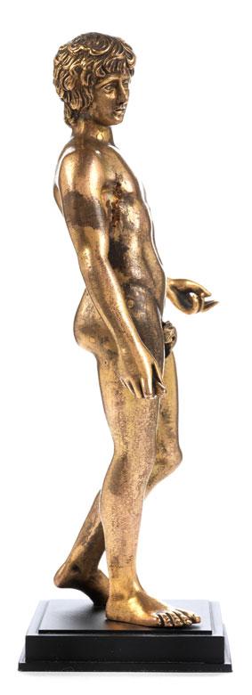 Detailabbildung: Vergoldete Bronzestatuette des Antinoos