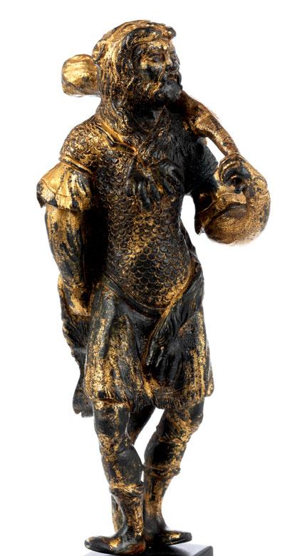 Detailabbildung: Bronzestatuette des Herkules