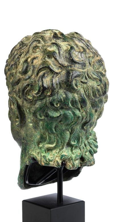 Detailabbildung: Bronzekopf des Kaisers Nero