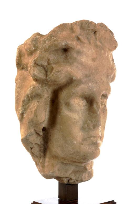 Detailabbildung: Römischer Marmorkopf