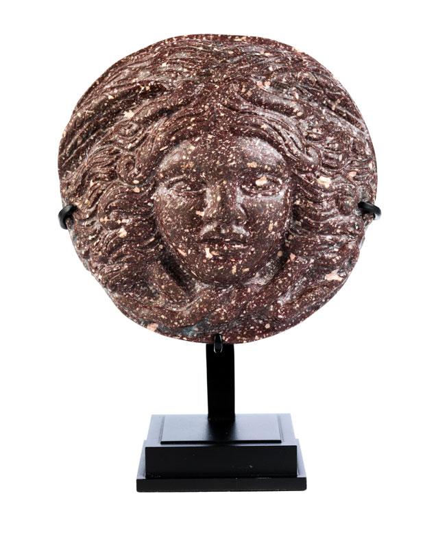 Porphyr-Tondo mit Medusenhaupt