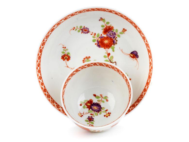 Detailabbildung: Meissener Koppchen mit Tischchenmuster