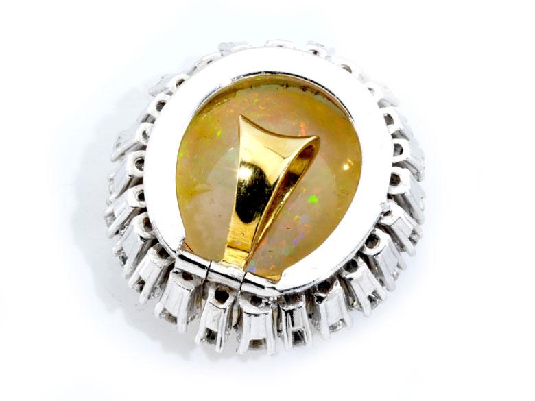Detailabbildung: Opal-Diamantanhänger