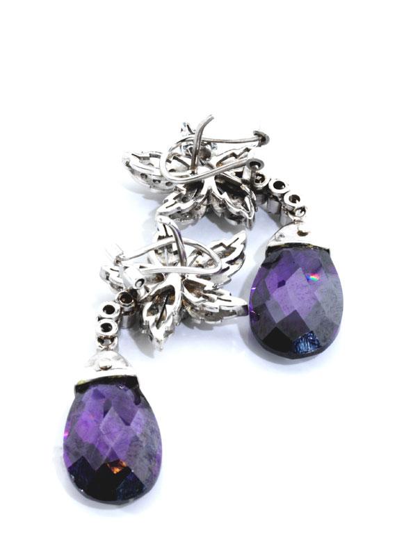 Detailabbildung: Amethyst-Diamantohrhänger