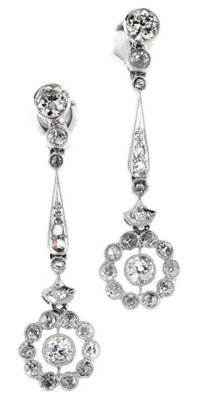 Diamant-Rosettenohrhänger