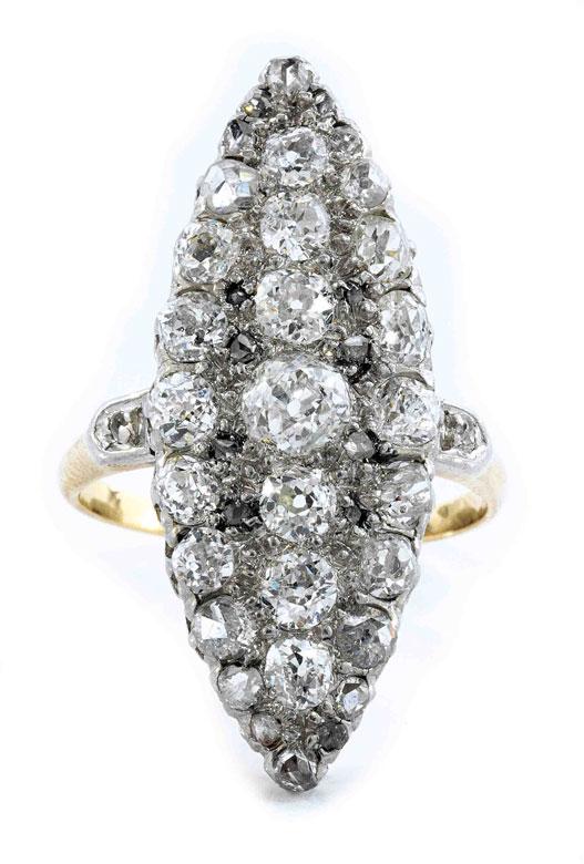 Antiker Marquise-Diamantring