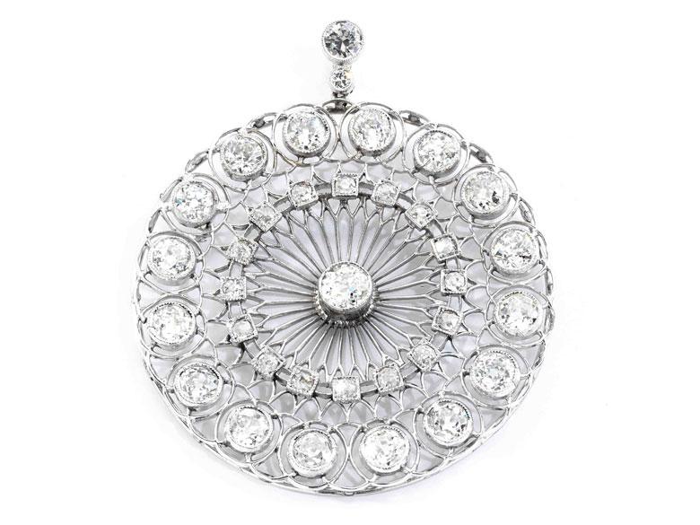Antiker Diamantanhänger