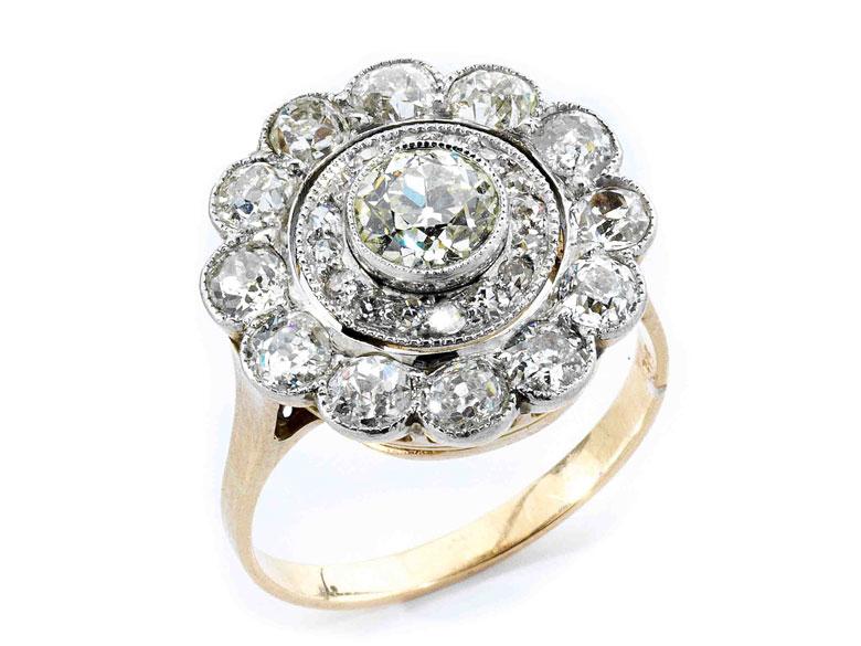 Diamant-Rosettenring
