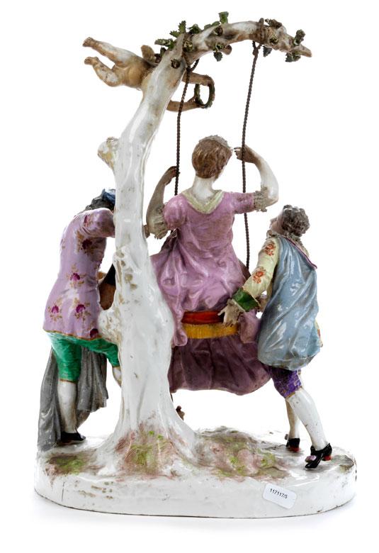Detailabbildung: Große Porzellanfigurengruppe