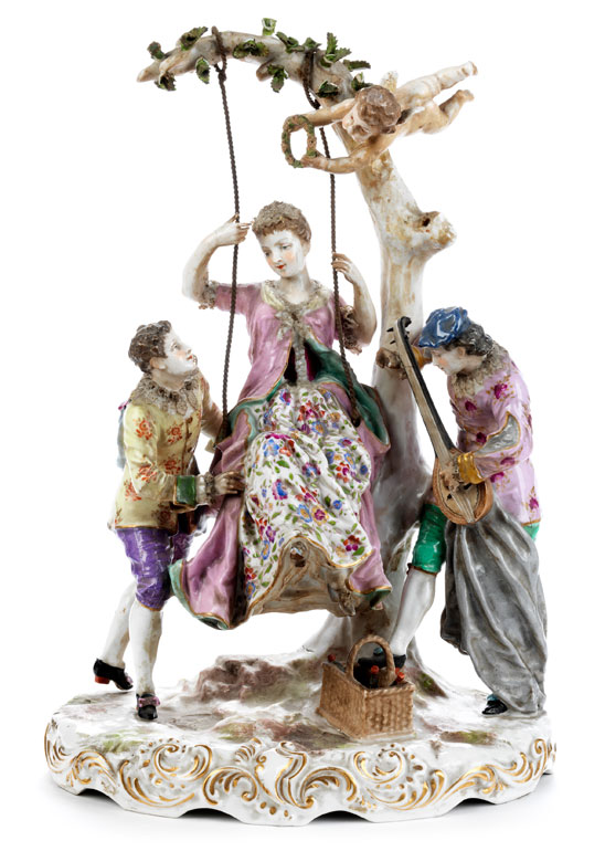 Große Porzellanfigurengruppe
