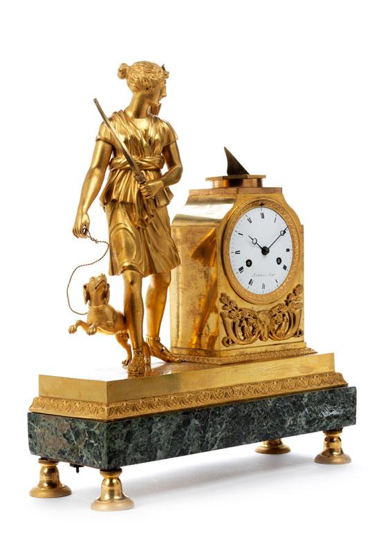 Detailabbildung: Empire-Pendule Diana , Uhrmacher Charles Oudin