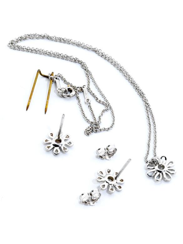Detailabbildung: Daisy Flower Brillant-Platinset von Tiffany