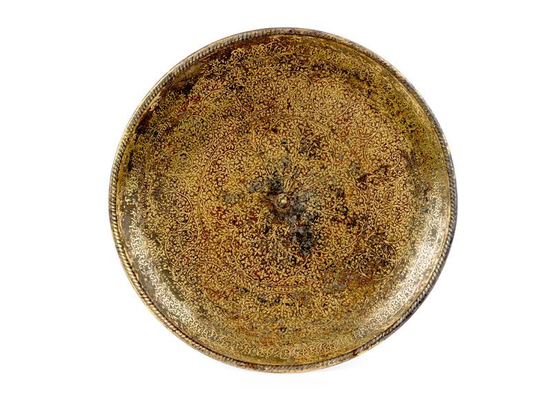 Detailabbildung: Vergoldete Fußtazza (Koftgari)