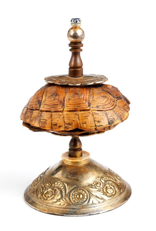 Kunstkammerobjekt in Form eines Schildkrötenpanzers