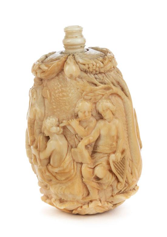 Seltene Schnupftabakflasche in Elfenbein