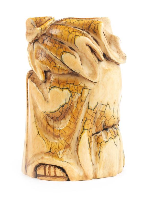 Detailabbildung: Japanische Okimono-Figur in Elfenbein