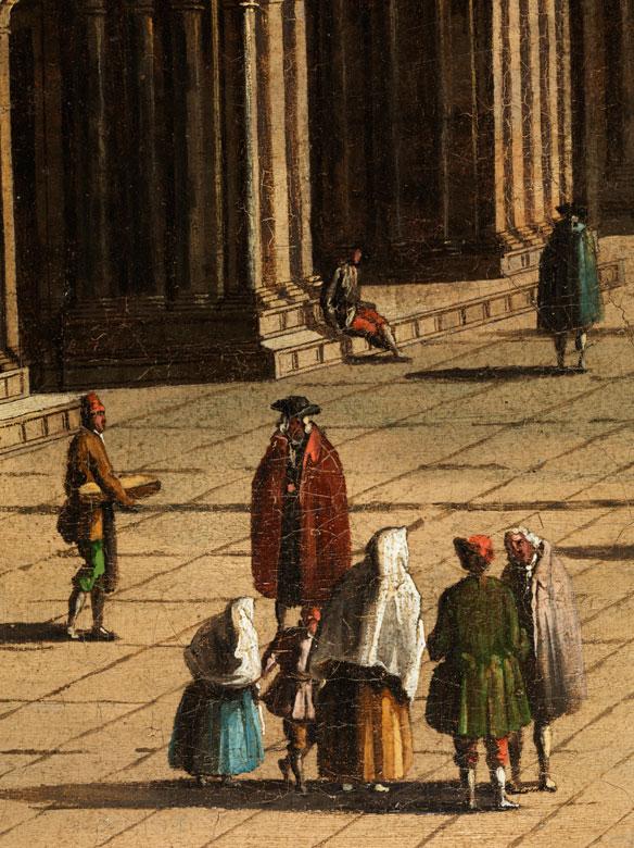 Detailabbildung: Bernardo Bellotto, genannt Canaletto , 1721 Venedig – 1780 Warschau, zug.