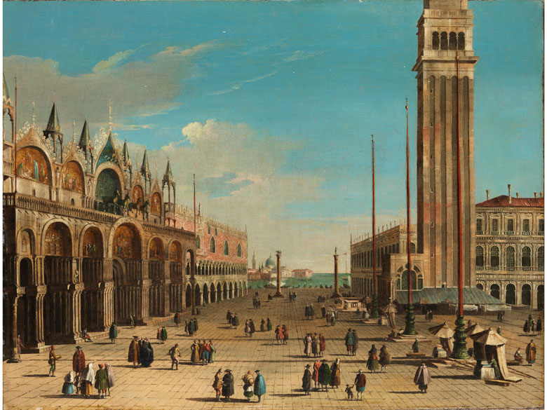 Bernardo Bellotto, genannt Canaletto , 1721 Venedig – 1780 Warschau, zug.