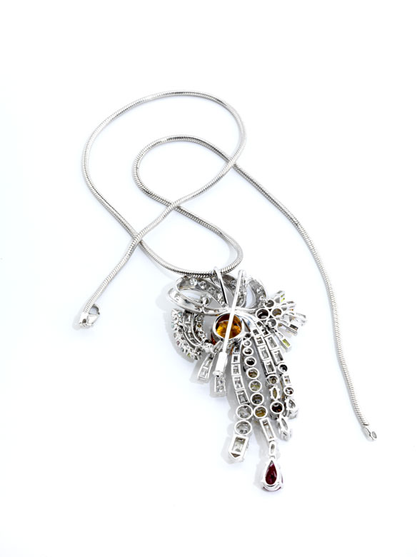 Detailabbildung: Diamantbroschanhänger multicolor
