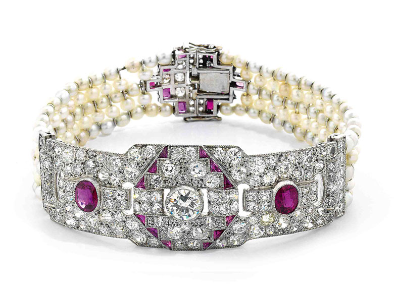 Rubin-Diamant-Perlarmband