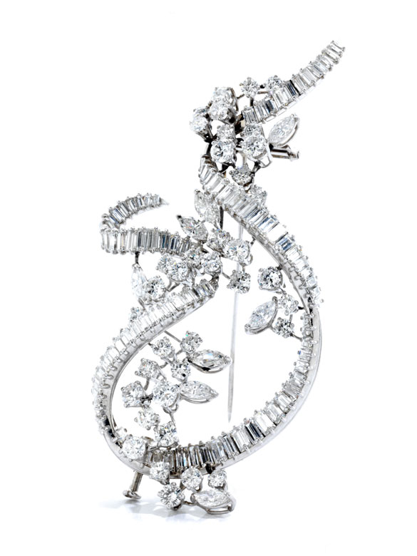 Großer Diamantbroschanhänger