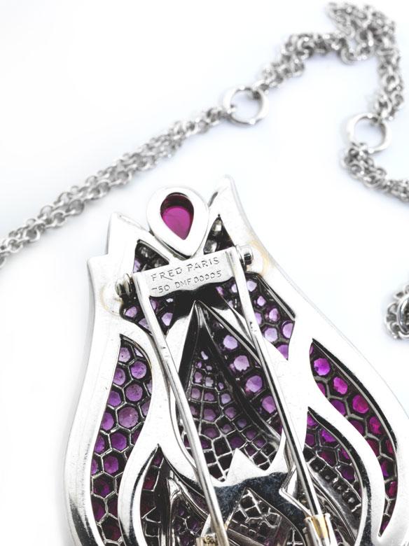 Detailabbildung: Rubin-Saphir-Diamantbrosche von Fred