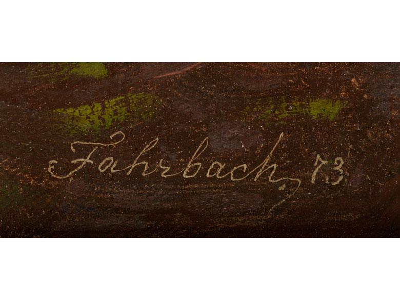 Detailabbildung: Carl Ludwig Fahrbach, 1835 Heidelberg – 1902 Düsseldorf