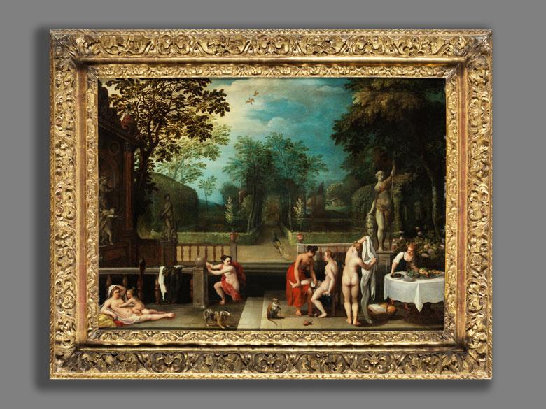 Detailabbildung: Adriaen van Stalbernt (1580-1662) und Abraham Govaerts (1589-1626), zug.