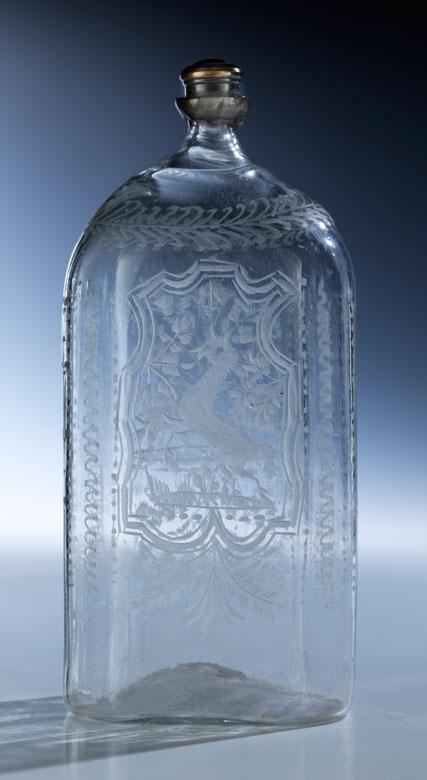 Achtkantige Schraubflasche
