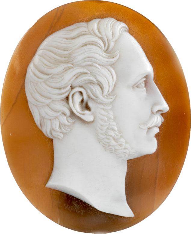 Achatkamee des Medailleurs Carl Friedrich Voigt mit der Darstellung des späteren Königs Maximilian II Joseph von Bayern