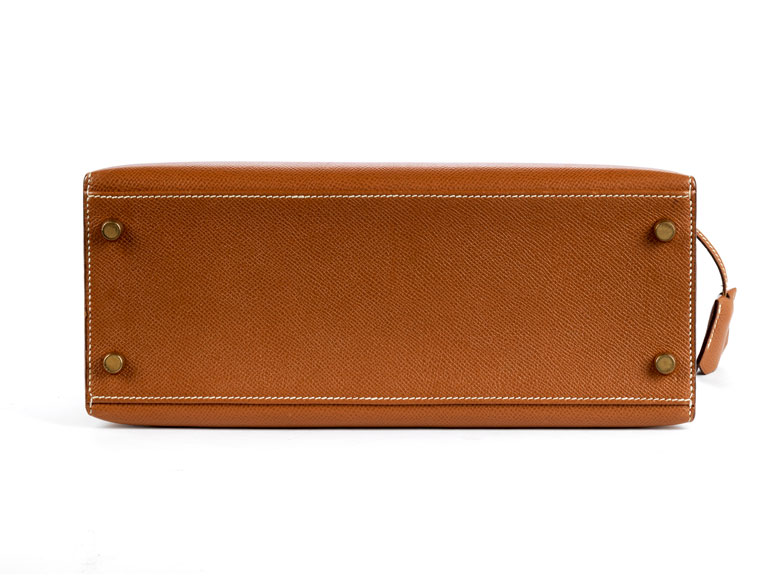 Detailabbildung: Hermès Kelly Bag Etoupe 30 cm