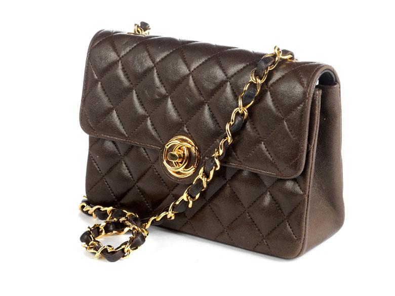 Braune Chanel-Handtasche Timeless