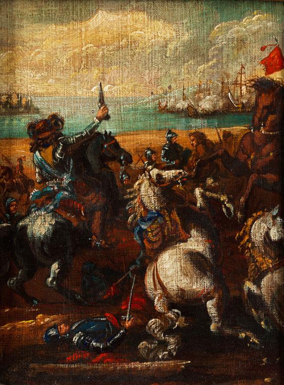 Italienischer Schlachtenmaler in der Stilnachfolge von Salvator Rosa, 1615 – 1673