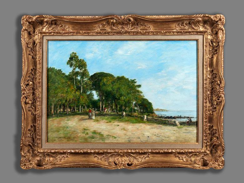 Detailabbildung: Eugène Boudin, 1824 Honfleur – 1898 Deauville
