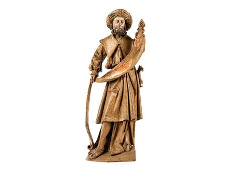 Schnitzfigur eines alttestamentarischen Propheten