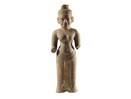 Figur eines Vishnu im Khmer-Stil