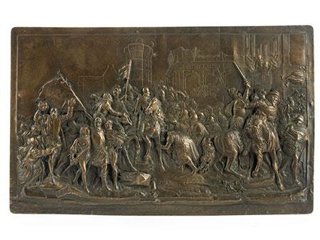 Russische Bronzeplakette