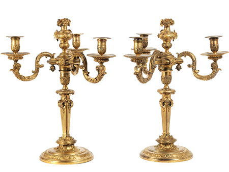 Paar Napoleon III-Girandolen