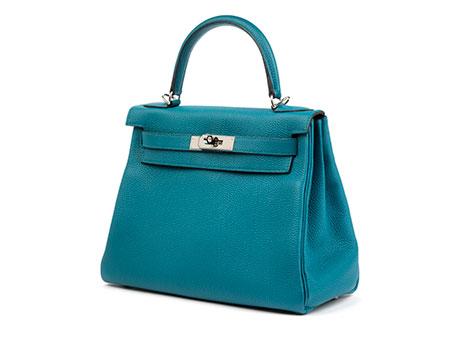 Hermès Kelly Togo Cobalt Retourne 28 cm