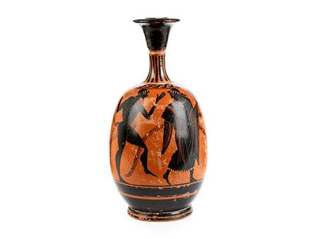 Henkelkanne in Form eines attischen Lekythos im Stil des 5. Jahrhunderts