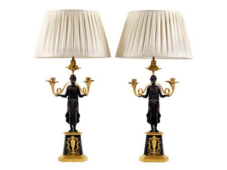 Paar Empire-Leuchter
